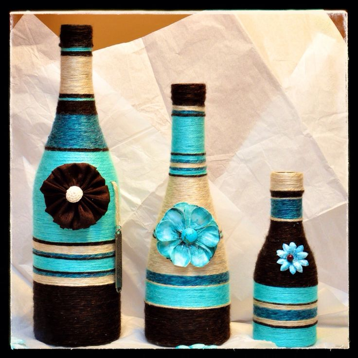 Turquoise, Brown and Beige Set
