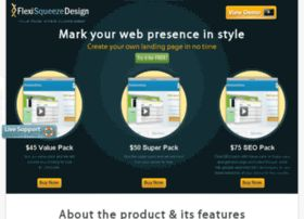 Create stunning web pages with squeeze page design tool and get your website a really attractive landing page. This is an easy, safe and elegant tool to increase the versatility of your website.