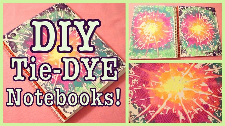 DIY: Tye Dye Notebook!! Super easy and simple.  Watch the video on: https://www.youtube.com/watch?v=hoByE4ojFV4  ***LATEST VIDEOS YOU NEED TO SEE!!!! DIY KATY PERRY LYRICS ART http://full.sc/15UtGCR MAKEUP COLLECTION STORAGE http://full.sc/1fqxSOi DIY BED POCKET ORGANIZ...