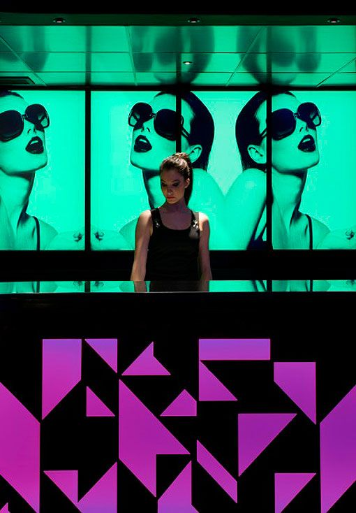 Barra videowall de Le Boutique Club, discoteca en Madrid