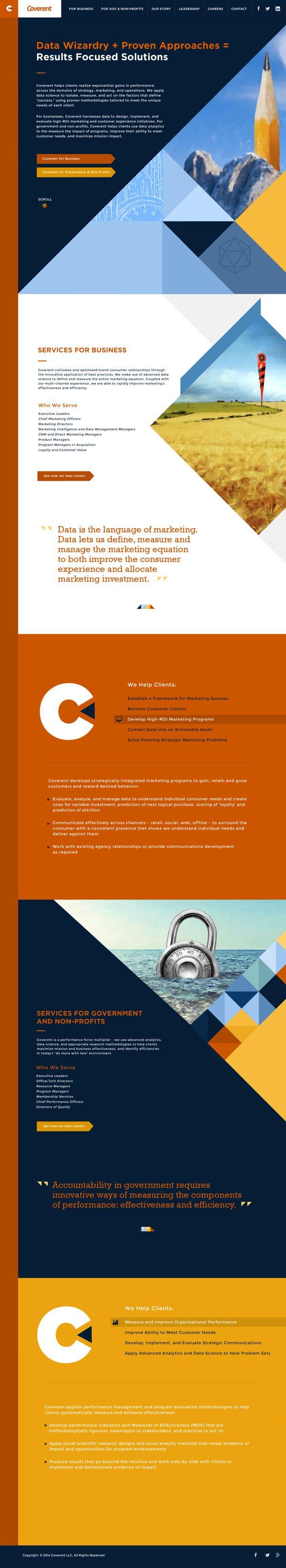 Coverent Website on Web Design Served