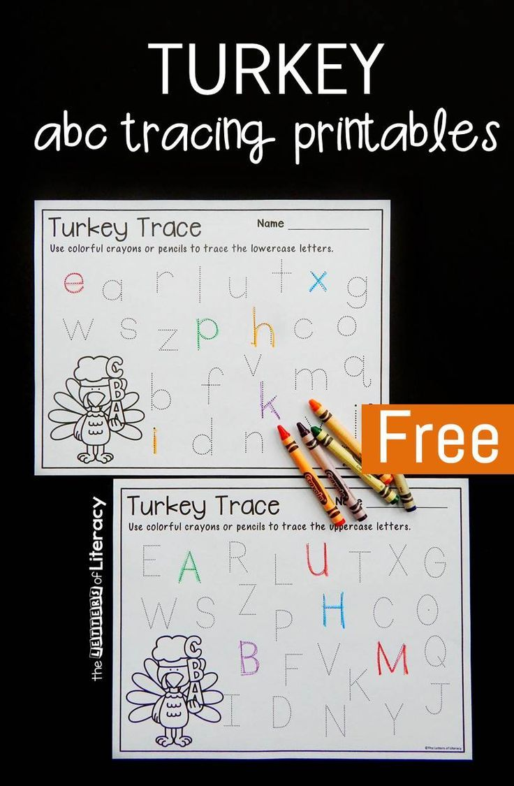 We love to make practicing our ABC's fun though through a variety of activities like these turkey themed alphabet tracing printables.