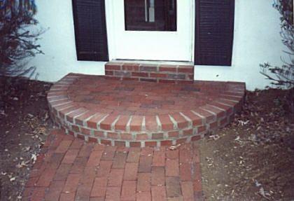 Cement Steps Designs Brick Tie Flagstone Paver Steps