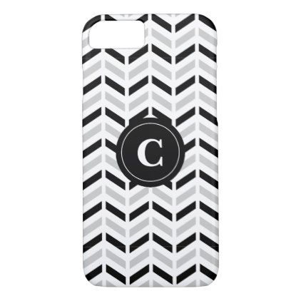 Personalized Black & White Chevron: Phone case - chic design idea diy elegant beautiful stylish modern exclusive trendy