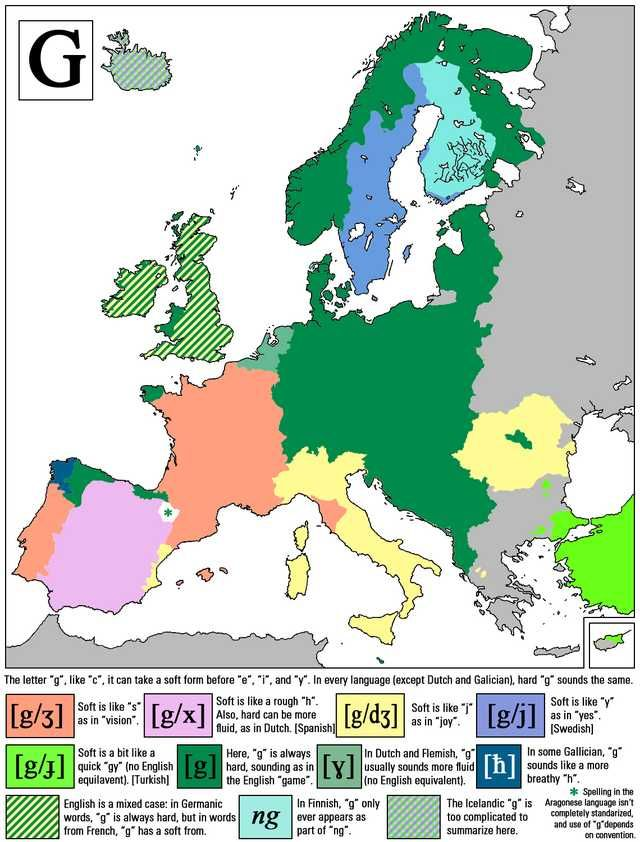 Consonants in European Languages | Maps | Map, European languages