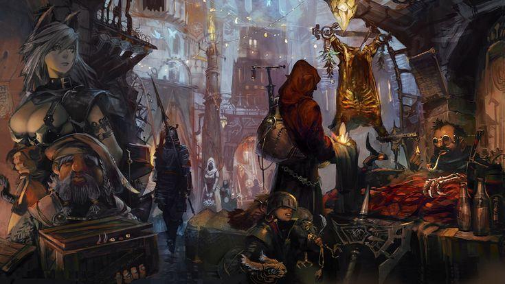 Stranger of Sword City, Town Artwork