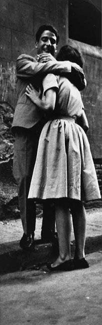 Joan Colom, Raval Barcelona 1958   vintage   photograph   love   hug   embrace   kiss   smoking   www.republicofyou.com.au