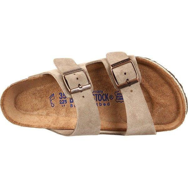 Birkenstock Arizona Sandals (280 BRL) ❤ liked on Polyvore featuring shoes, sandals, wide sandals, birkenstock shoes, wide width sandals, wide shoes and birkenstock footwear