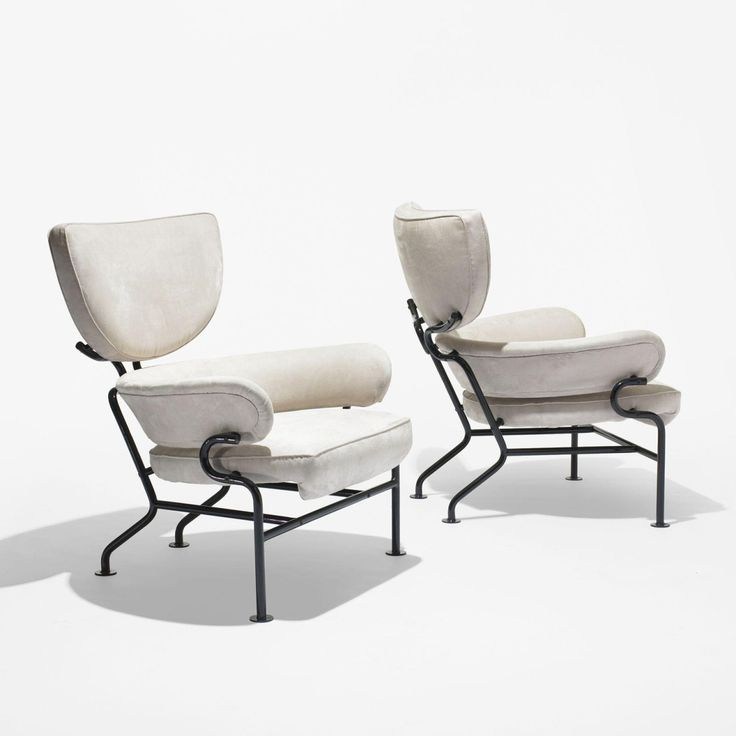 Awesome Tre Pezzi Lounge Chairs. Italy, 1957. Upholstery, Enameled Steel Images