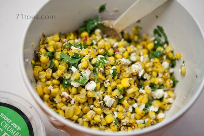 roasted corn salad...and bruschetta...and home decor for sale - 71 Toes