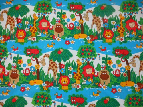 Children 39 s vintage fabrics a collection of ideas to try for Childrens jungle fabric
