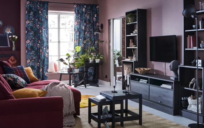 10 Colorful Living Room Ideas To Steal From Ikea Ikea Living Room Cheap Living Room Sets Dark Living Rooms