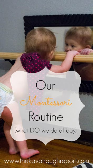 The Daily Rhythm in Our Montessori Home -- how we schedule our day, how we do some homeschooling and how I actually get stuff done!
