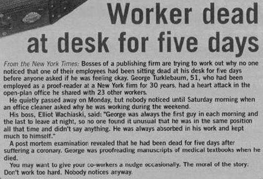 """This is just awful!! I have got to stop working for """"the man"""" ASAP!!"""