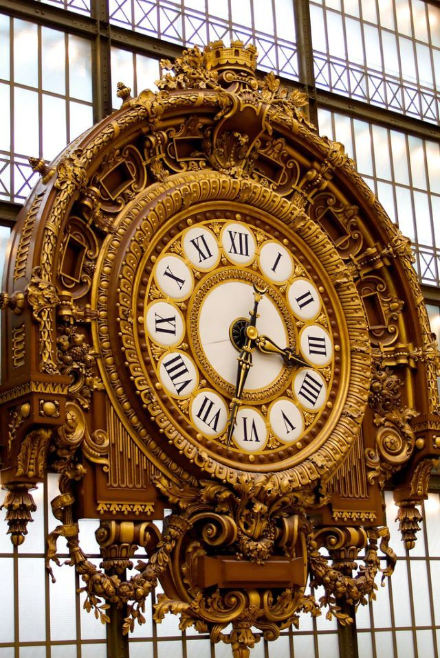 Clock at Musée d'Orsay, Paris - one of my favorite museums. The clock is iconic.