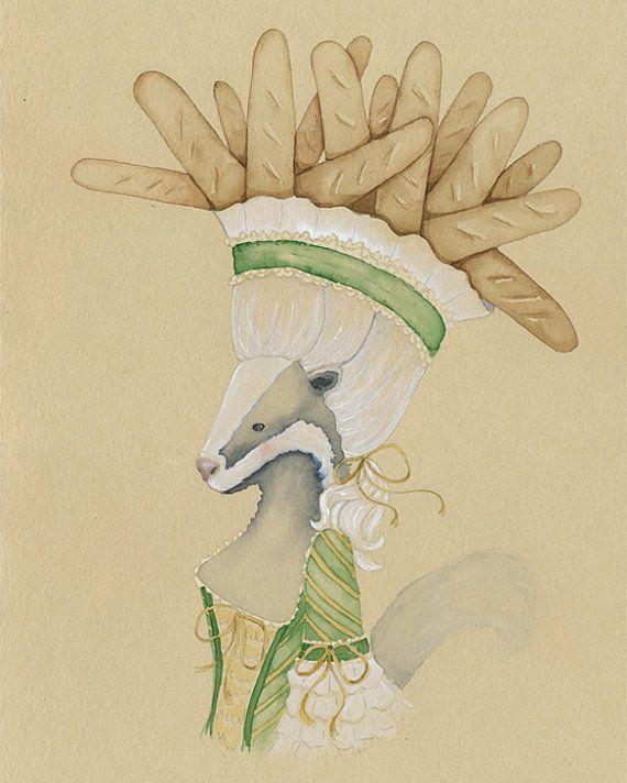 Rustieke bossen dierlijke 11 x 14 aquarel Fine door ElizabethOcean