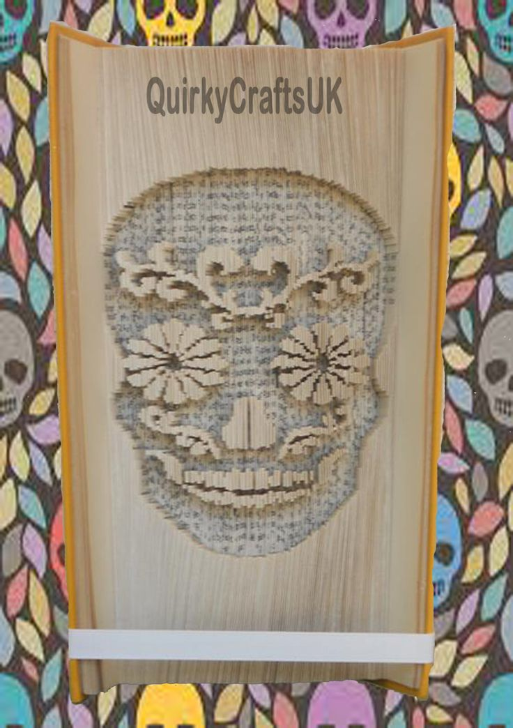 Sugar Candy Skull Day of the Dead - Cut and Fold method book folding pattern - 309 pages - Instant download plus FREE tutorial! by QuirkyCraftsUK on Etsy
