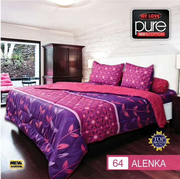 Sprei Set (King 180×200) motif Alenka Premium Lembut. Takut tidak sesuai Ukuran (kekecilan/kebesaran) ??? Kami beri garansi 30 Hari.