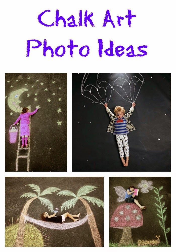 Chalk art photo ideas! – Yvonne Weigert