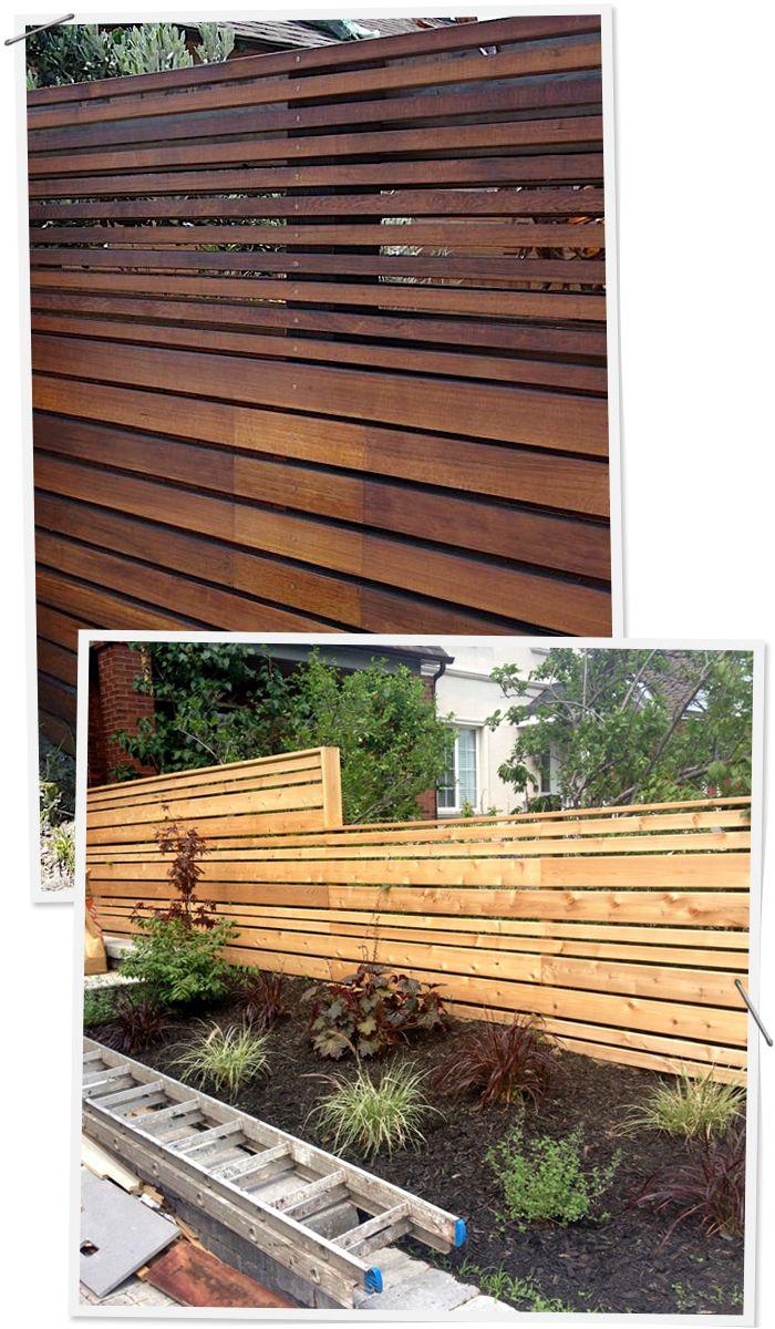 Modern Horizontal Fences