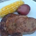 7 hour - Complete Steak Dinner in a Crockpot. Replace either corn or potatoes with something green for a healthy meal.