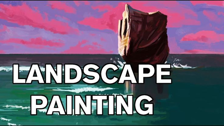 Beach Landscape - Digital Painting   #art #painting #drawing #digital #artist #landscape #draw #youtube #video #process #timelapsevideo #timelapse