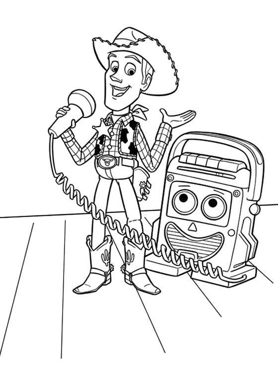 Toy Story Coloring Book Toy Story Cartoon Coloring Pages