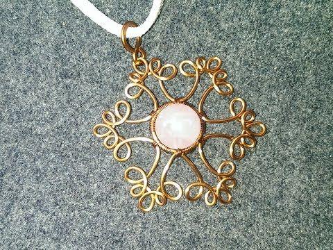Tutorial snowflake pendant- How to make wire jewelery