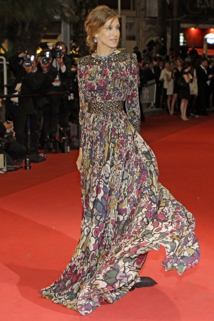 Sarah Jessica Parker Fashion #SexyInTheCity | Red Carpet at Cannes Film Festival 2015 in Elie Saab dress