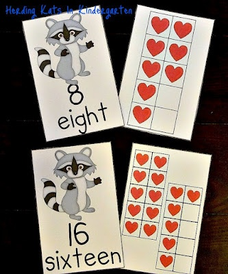 Back-to-school Ten Frames unit - 111 pages! Would go great with The Kissing Hand, Chicka Chicka Boom Boom or an Apples unit! On sale until Tuesday night (Aug 7th) for just $3.50