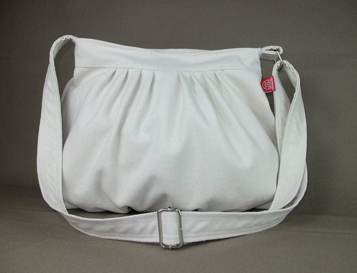 Cream Color Canvas Purse Bag Beige White Pleated Bag Washable Daily Use Crossbody Bag Tote Handbag Bags Diaper Bag Shoulder bag Gift for Her Different Colors are Available Hippirhino * See this awesome image     - amazon affiliated pin