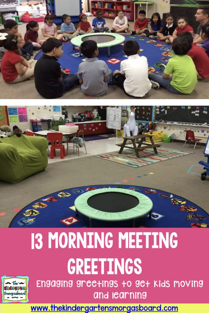 13 Morning Meeting greeting ideas for the classroom!  Check out this post for fun, engaging and movement based morning meeting greetings!