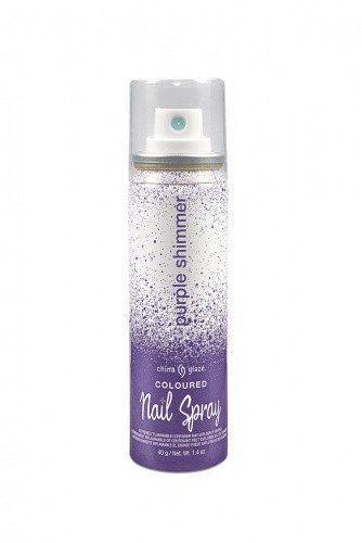 China Glaze Coloured Nail Spray-Purple Shimmer