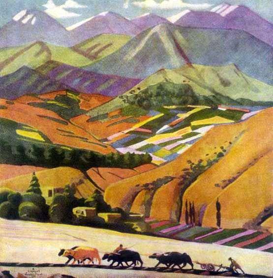 Armenian painter Martiros Saryan. Mountains. Here is how Mandelstam saw Armenia, i guess...