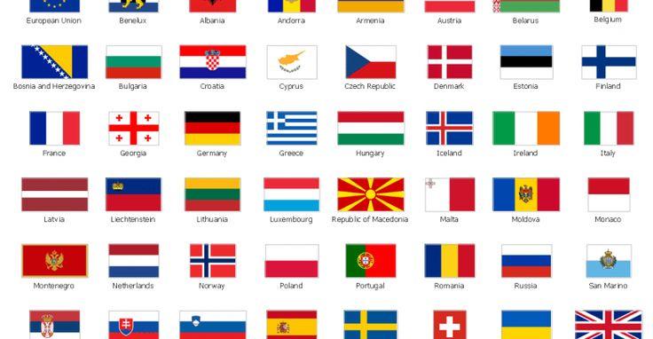 Details Of أعلام الدول الأوروبية مع الأسماء بالعربي وباقة من أهم وأشهر