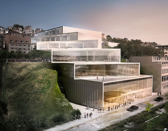 School of Stuttgart Ballet, Germany. Competition proposal by #3XN Architects…