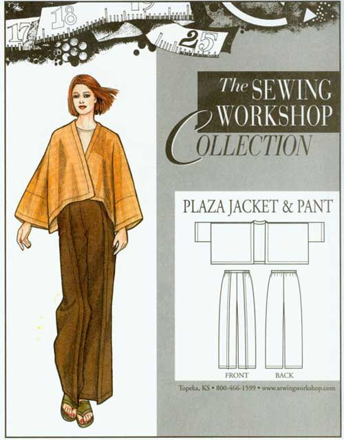 The Plaza Jacket and Pants sewing pattern is a very comfortable and loose-fitting jacket and pants set.
