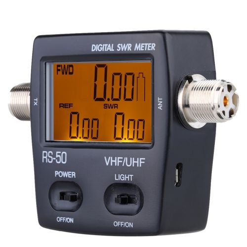 Digital LED Backlight SWR Standing Wave Ratio Power Meter for HAM UHF/VHF USB Interface 125-525MHz 120W