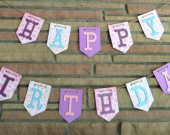 Happy Birthday Banner Happy 1st Birthday by CreationsByRosieLou
