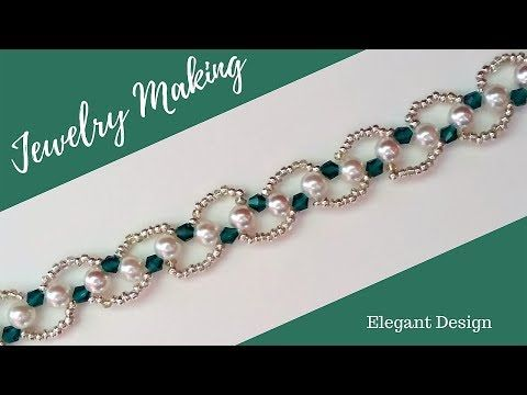 DIY Christmas Gift Ideas. Beading bracelet(necklace)-How to make beautiful jewelry in 10 minutes - YouTube