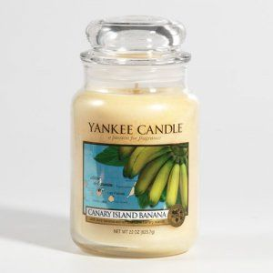 Canary Island Banana. One of my favorite summer scents by Yankee Candle. Smells like grandma's house!