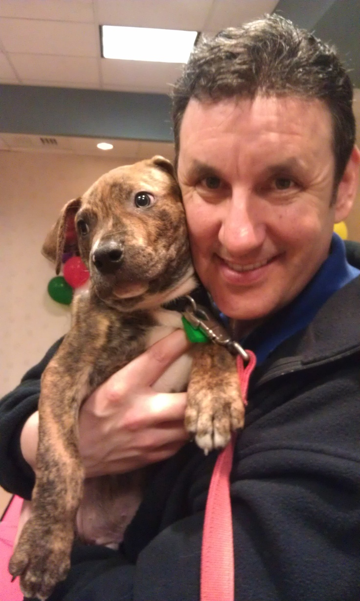 3/22/12 - Joe Cronauer's made a new friend at the Cleveland Animal Protective League's Fur-Get-Me-Not Telethon.