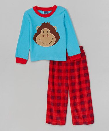 Look what I found on #zulily! Red & Blue Gorilla Pajama Set - Infant, Toddler & Boys by Candlesticks #zulilyfinds