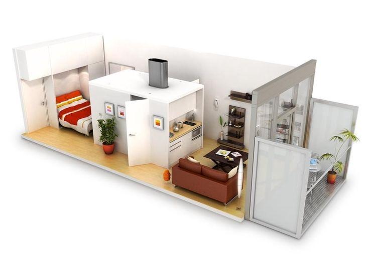 Micro-apartment design.