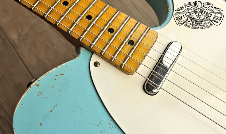 sonic blue relic roadworn telecaster warmoth maple neck