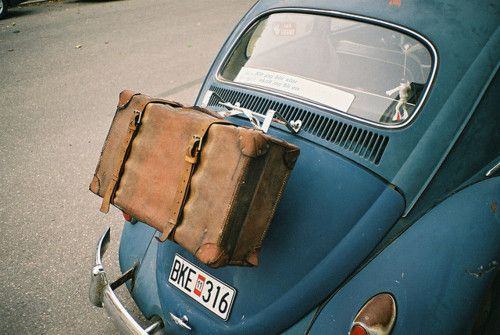 day trip: The Roads, Vw Beetles, Vw Bugs, Vintage, Cars, Roads Trips, Suitca, Bags, Roadtrip