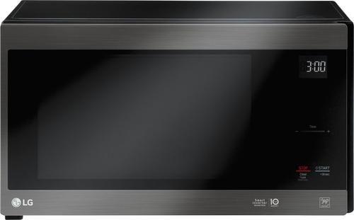 Lg Neochef 1 5 Cu Ft Mid Size Microwave Printproof Black