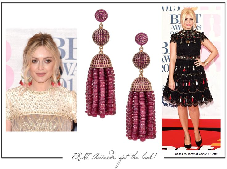 Tons of tassels at the #BRITs2015. We love the looks of Holly Willoughby and Fearne Cotton. Get the look with our Aphrodite collection.  http://www.latelita.com
