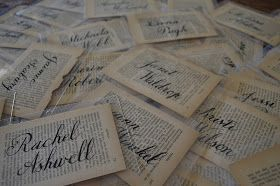 Tattered Style: Calligraphy Name Tag Project