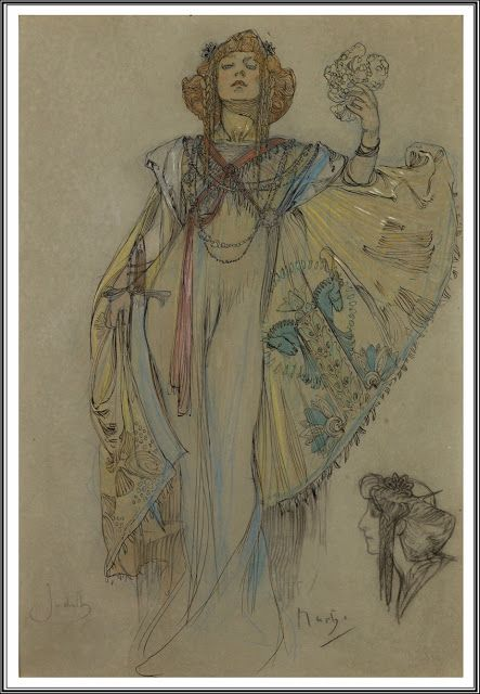 """elpasha711: """" Alphonse Mucha (1860-1939), Judith. Definitions of Bohemia a region that forms the western part of the Czech Republic. Formerly a Slavic kingdom, it became a province in the newly formed Czechoslovakia by the Treaty of Versailles in..."""